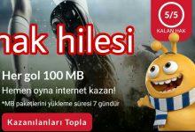 Turkcell Goller Cepte (Her Gol 100 MB) Kampanyası