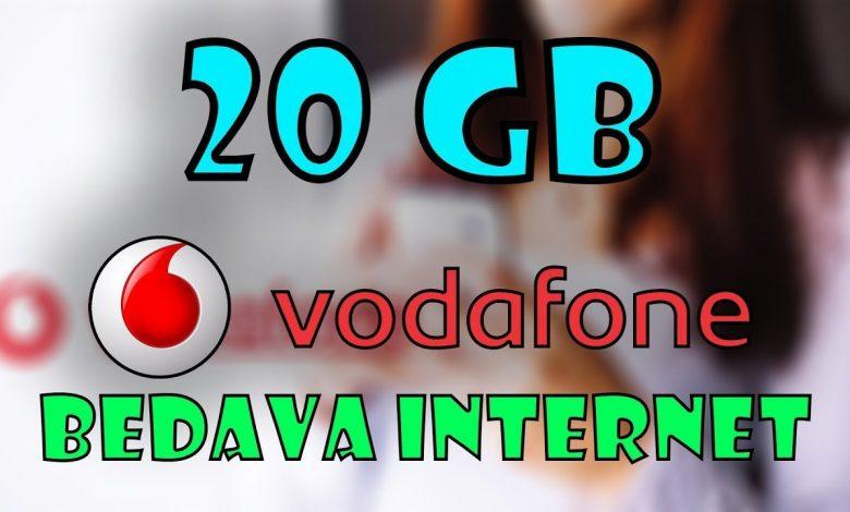 vodafone yeni gelene bedava internet