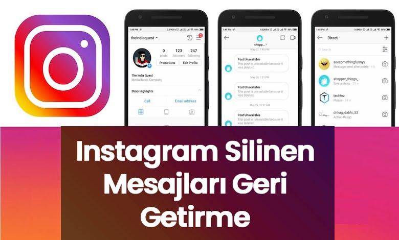 Instagram Silinen Mesajları (Sohbeti) Geri Getirme