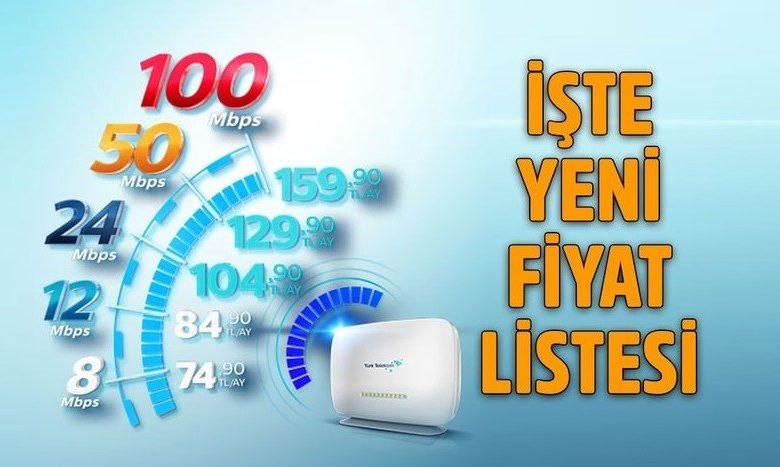 Turk Telekom Ev İnterneti Paket Fiyatları