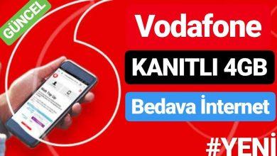 Vodafone Ücretsiz İnternet Kazanma