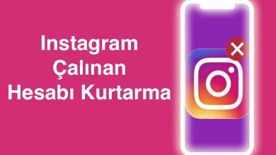 Instagram Çalınan ve Hacklenen Hesabı Geri Alma