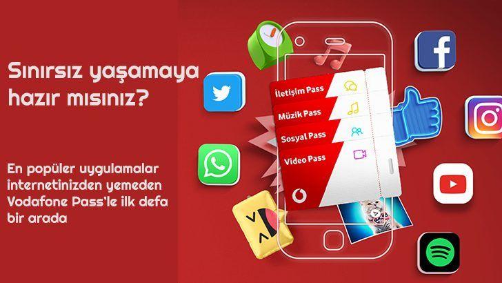 Vodafone Sosyal Pass: Oyun, İletişim ve Video Paketleri