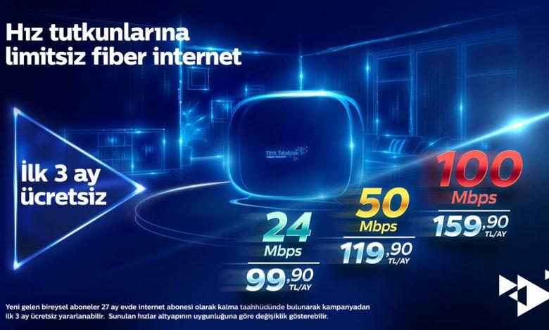 Türk Telekom Fiber ve ADSL Evde İnternet Fiyatları