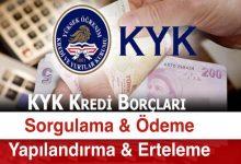 KYK Borcu Sorgulama, Ödeme ve Kredi Yapılandırma