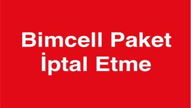 BİMcell Paket İptali