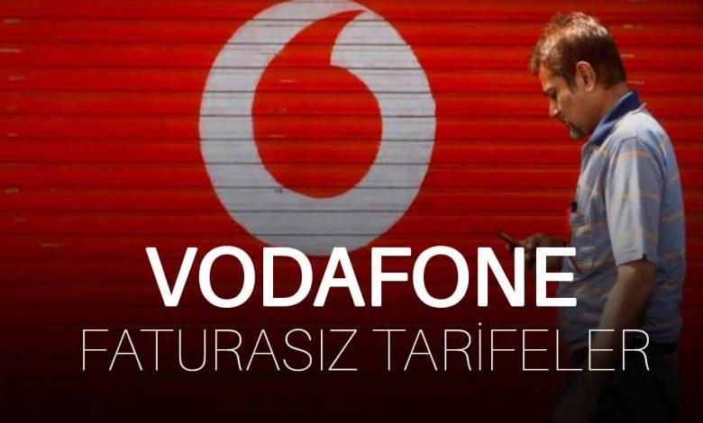 Vodafone Faturasız Tarifeler