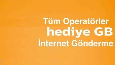 Hediye İnternet Gönderme: Turkcell, Vodafone, Türk Telekom