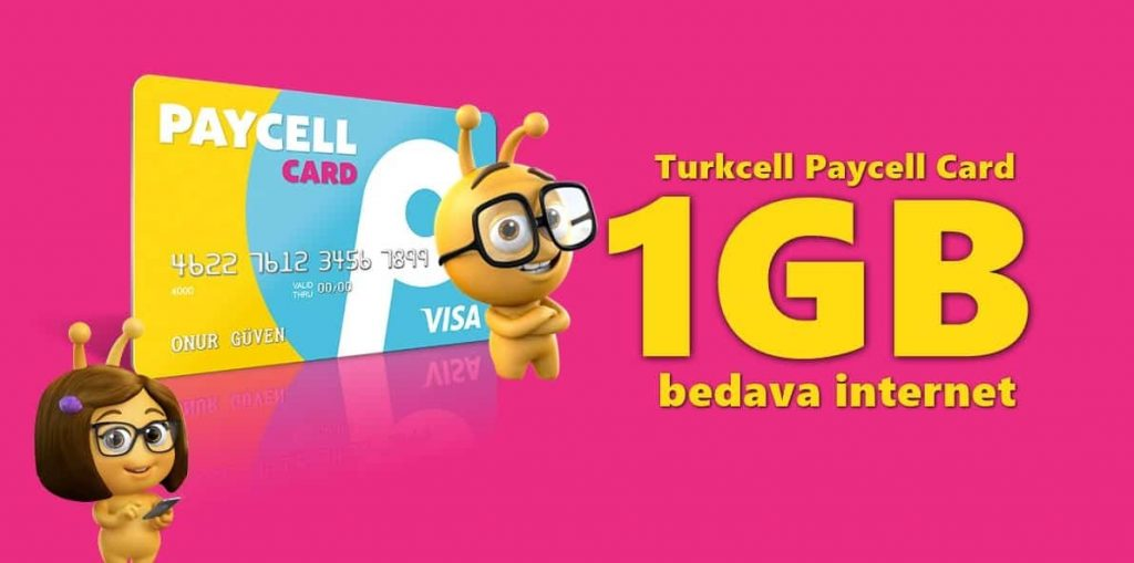 paycell bedava 1 gb internet