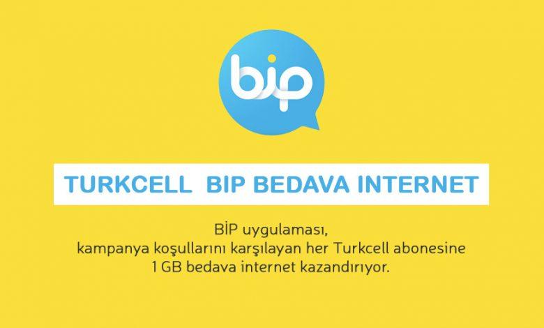turkcell bip hediye internet paketi