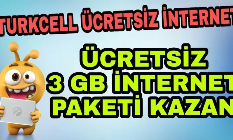 turkcell ucretsiz internet paketleri