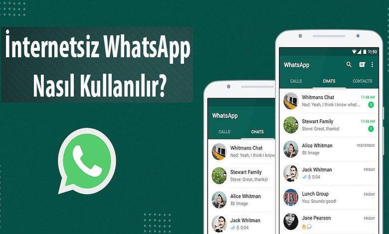 İnternetsiz WhatsApp Kullanma (Çevrimdışı Yazma)