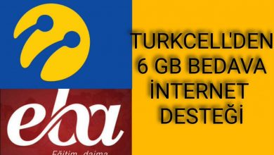 Photo of Turkcell Eba 8 GB Bedava İnternet Kazanma