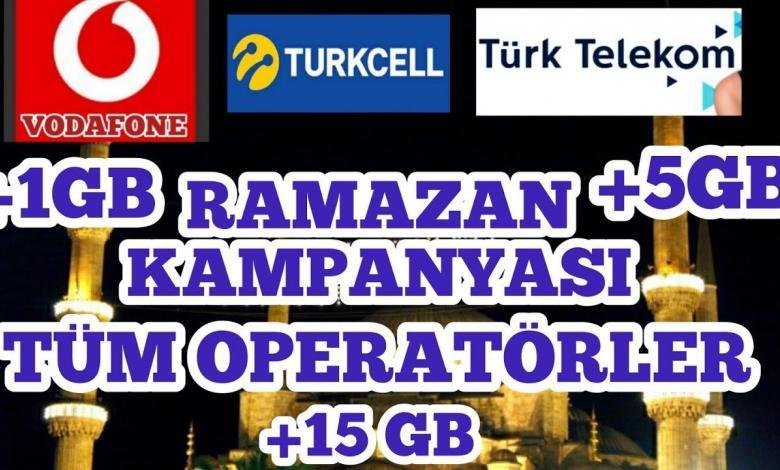 Photo of Ramazan 2020 Hediye İnternet Turkcell, Vodafone, Türk Telekom