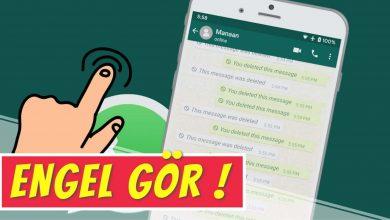 WhatsApp'ta Engel Anlama ve Engelleyene Mesaj Gönderme