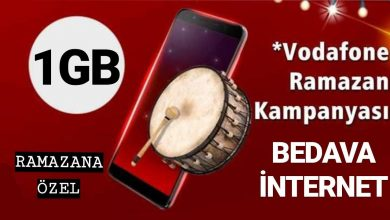 Photo of Vodafone Ramazan Bayramı Hediyesi 2020