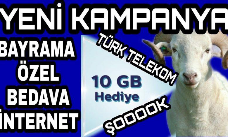 türk telekom kurban bayramı bedava internet