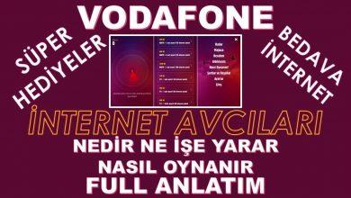 Vodafone İnternet Avcıları ile Hediye İnternet