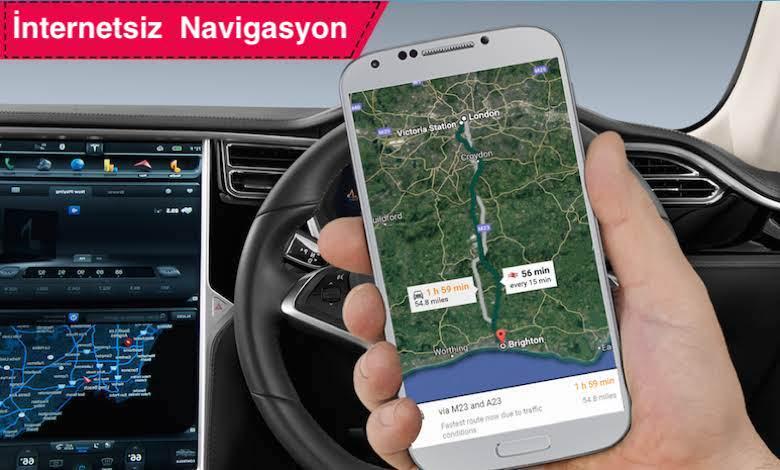 İnternetsiz Çevrimdışı Harita Navigasyon Uygulamaları
