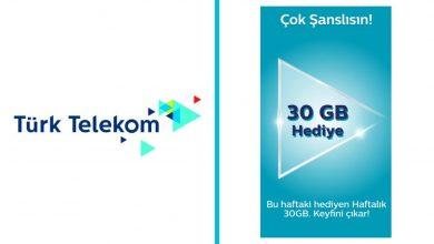 Türk Telekom 4.5 G 30 GB Hediye İnternet Kampanyası