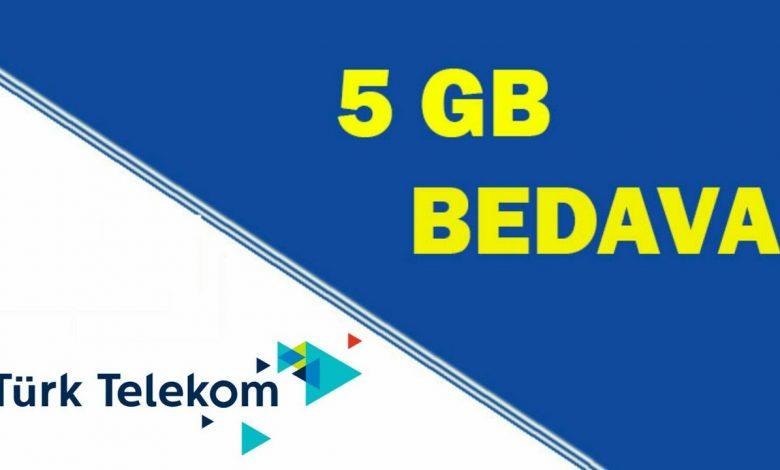 Türk Telekom Bal Paket Tarifeleri ile 5 GB Bedava İnternet