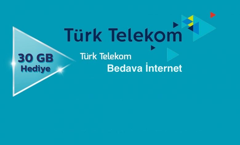 Türk Telekom Bedava İnternet Kazanma