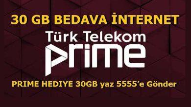 Türk Telekom Prime Bedava (Hediye) İnternet