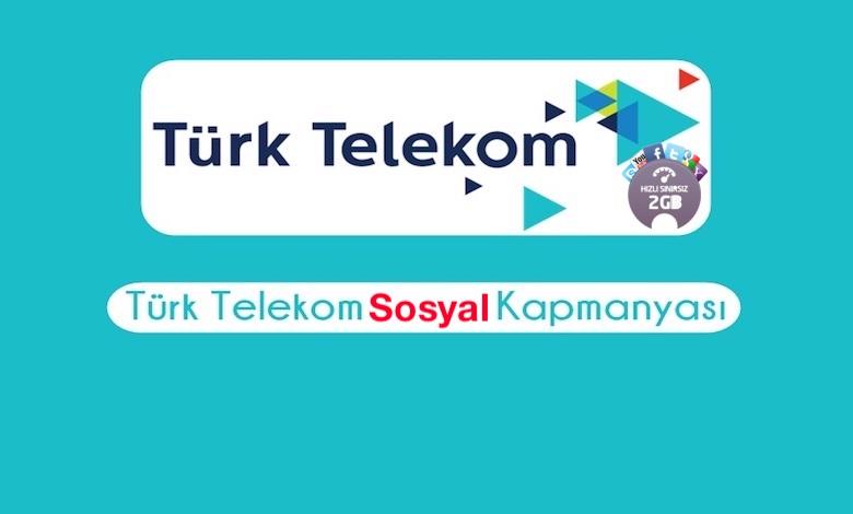 Türk Telekom Hediye Sosyal Medya İnternet Paketi