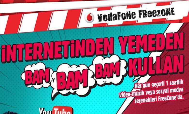 Vodafone Kafana Göre Tarifesi ile Bedava İnternet