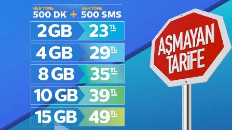 Türk Telekom Aşmayan Duran Tarifeleri