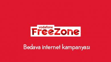 Vodafone Freezone 30 TL Yükleyene Bedava İnternet Kampanyası
