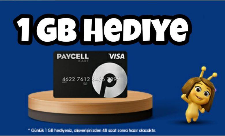 Paycell: Paket veya TL Yükle 1 GB Bedava İnternet Kazan