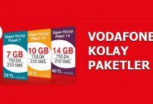 Vodafone Faturasız Süper Kolay Paketler