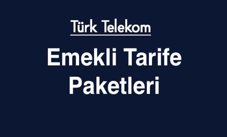 Türk Telekom Emekli Faturalı, Faturasız Tarife Paketleri