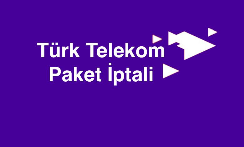 Türk Telekom Tarife Paket İptali