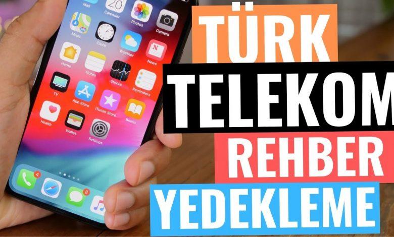 Türk Telekom Rehber Yedekleme, Kapatma, Gizleme ve Aktarma