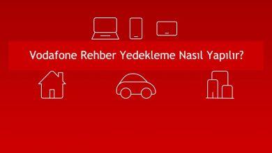 Vodafone Rehber Yedekleme: Rehber Hizmeti Açma ve Kapatma