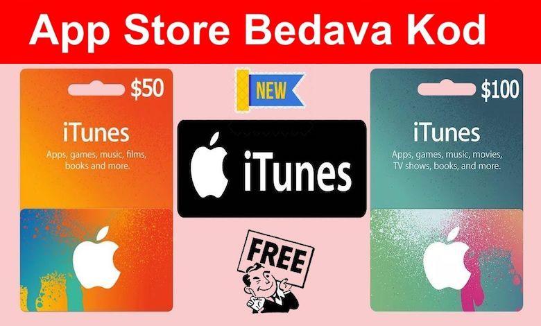 Bedava App Store iTunes Hediye Kartı Kodları